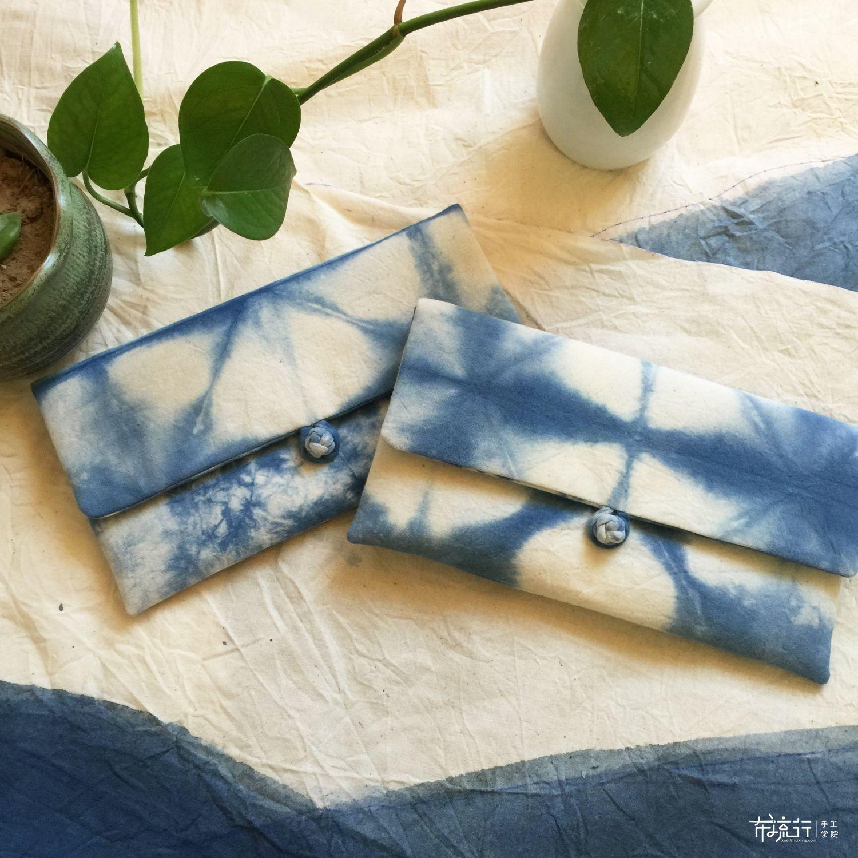 植物染盘扣包和围巾