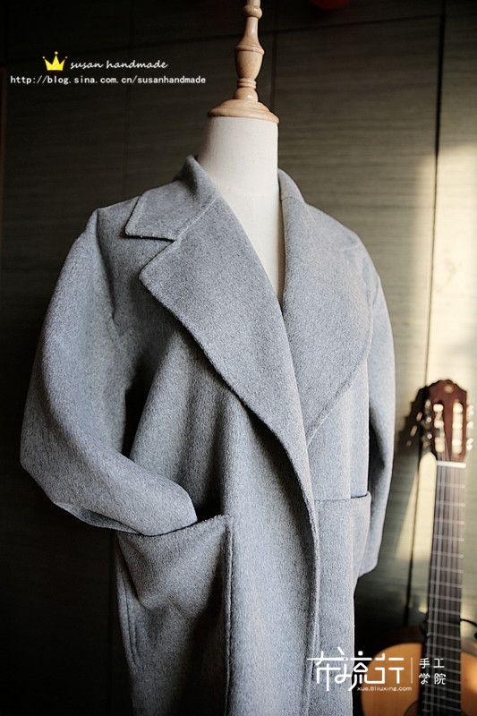 手缝双面羊绒大衣详细教程,附秀&制作过程