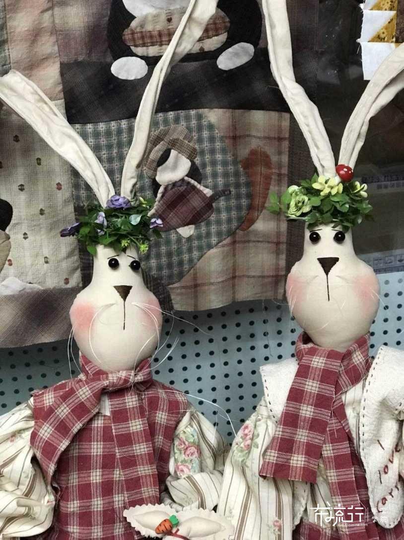 月弦手作~情侣乡村兔