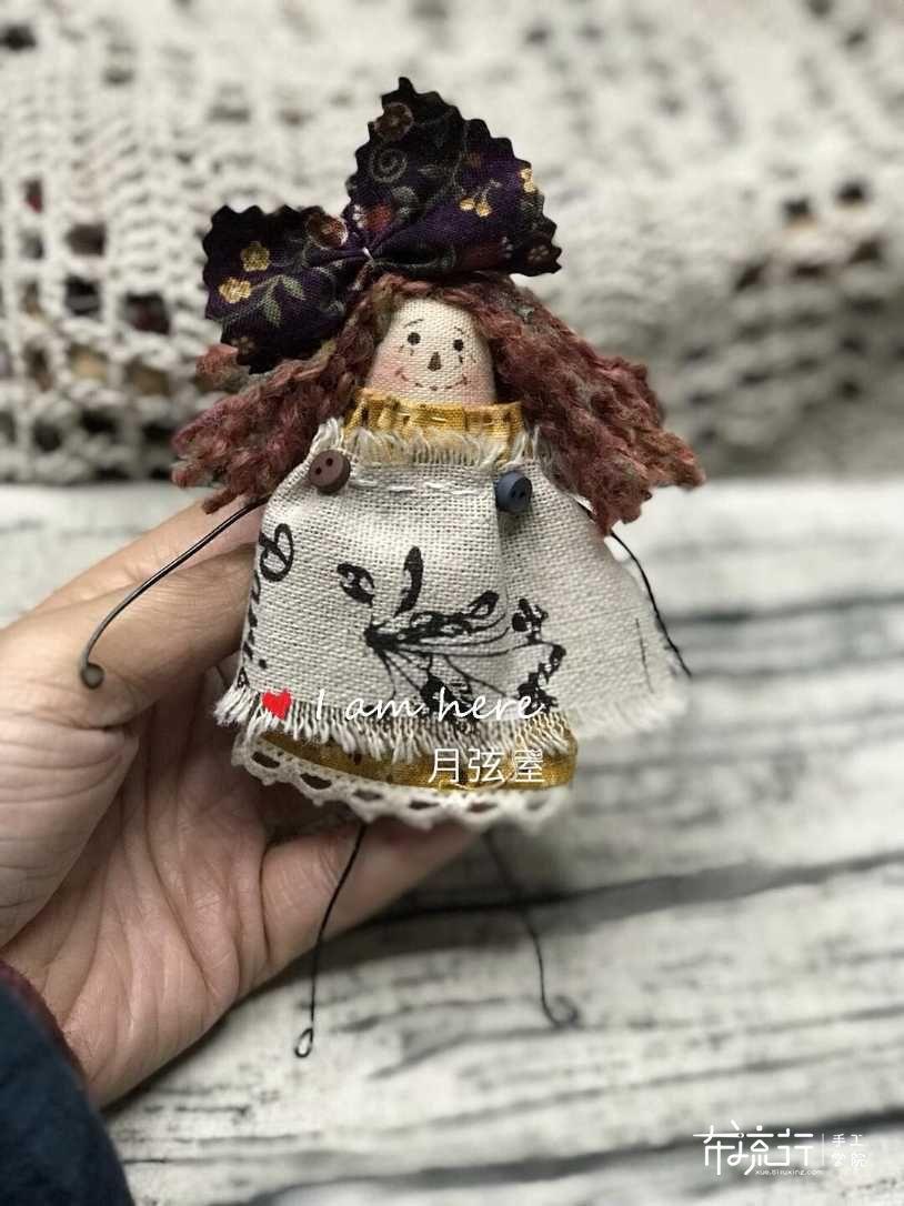 月弦手作 铝线乡村娃娃