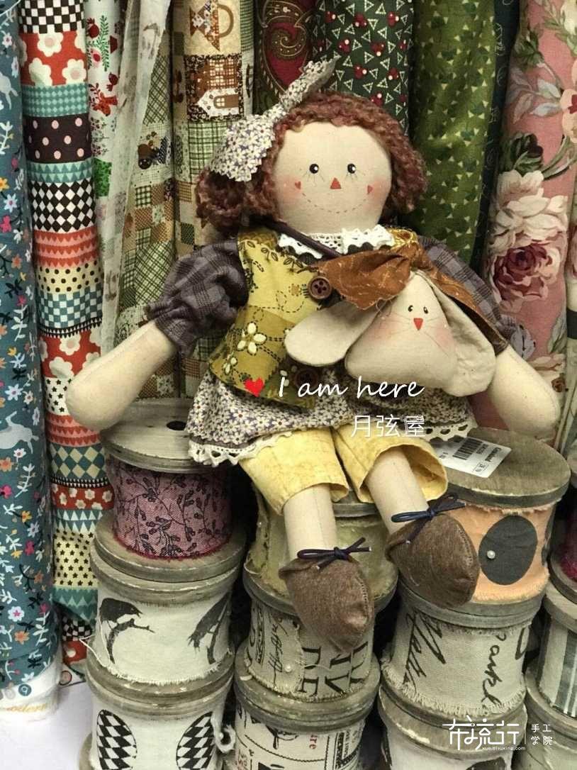 月弦手作~抱兔兔的黛比