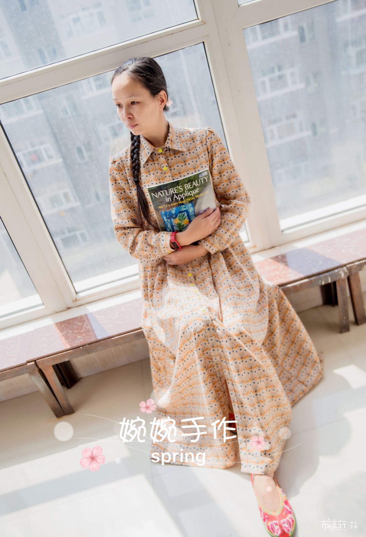 [婉婉手作]布衣老师3月收腰连衣裙