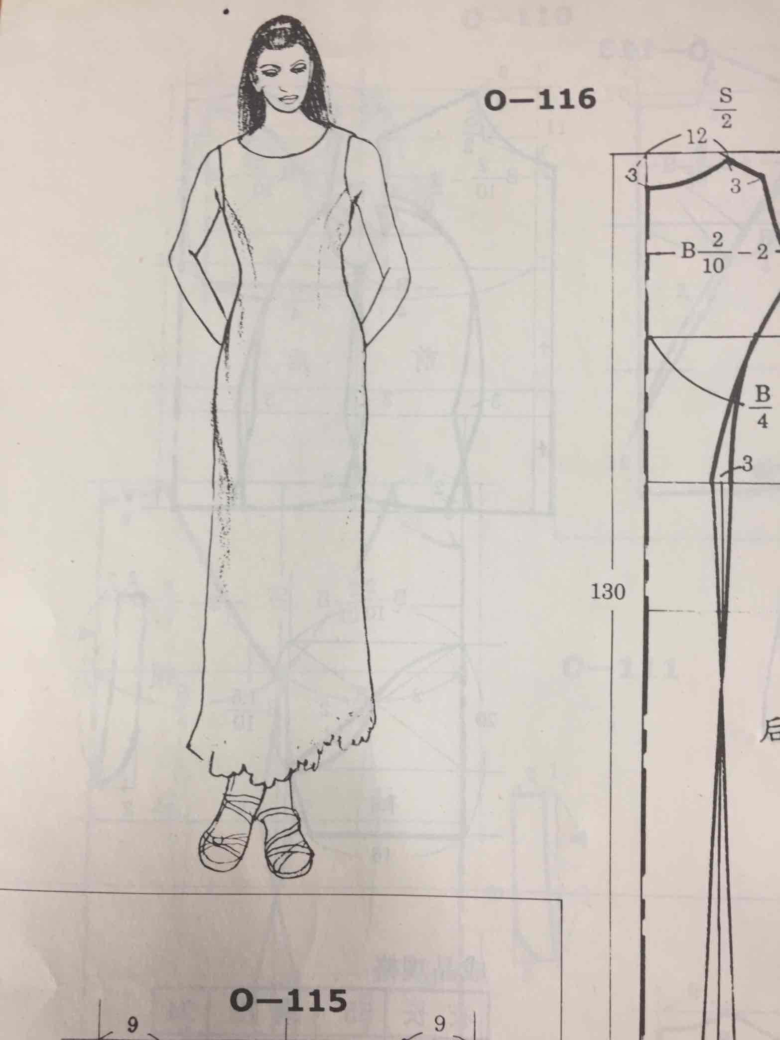 连衣裙裁剪图_长款连衣裙裁剪图 - 服装图纸 布流行手工网