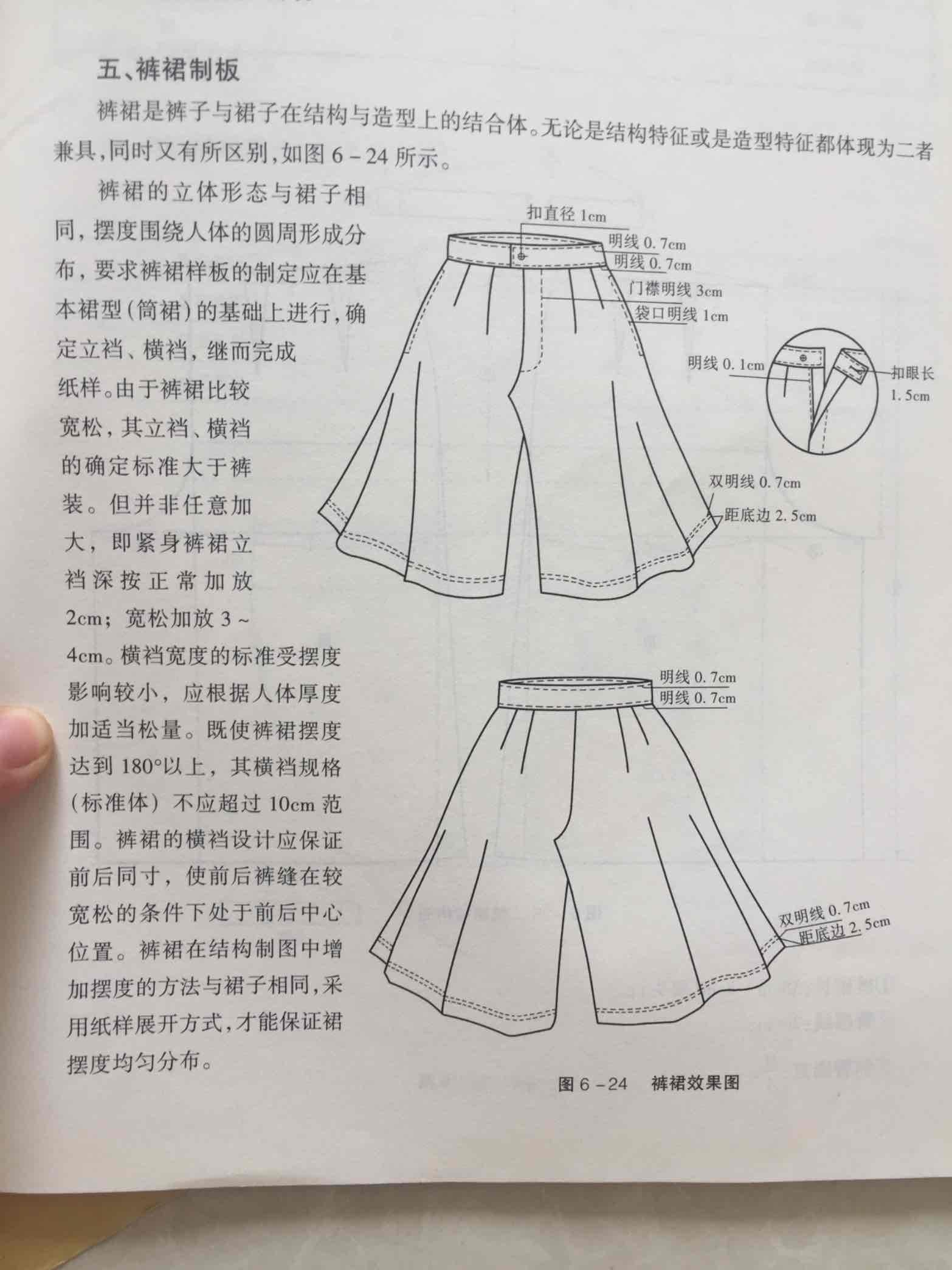 大摆裙裤裁剪图