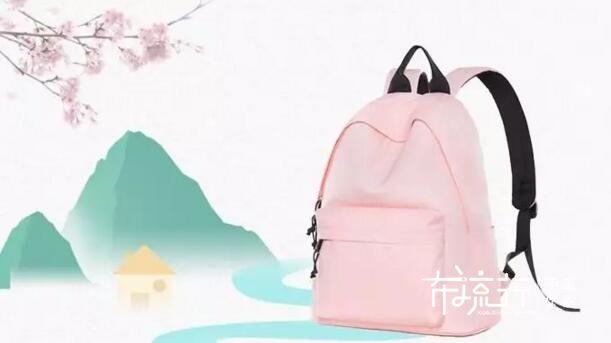 视频课程粉色牛津布双肩背包,女生五一出游必备款,