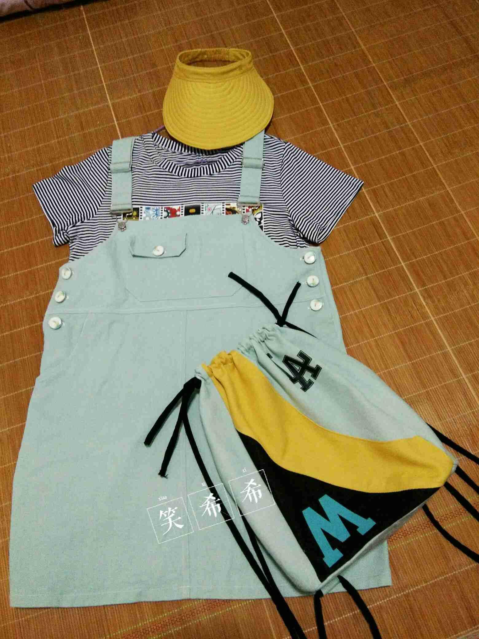 零碎的边角料,造配套的包包和帽子