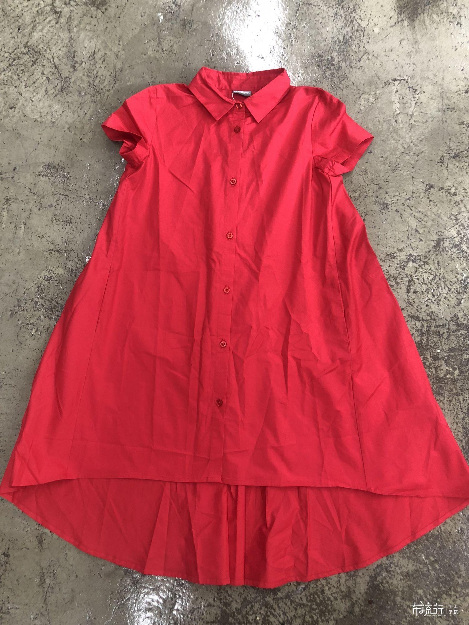 分享一个衬衫礼服裙裁剪图