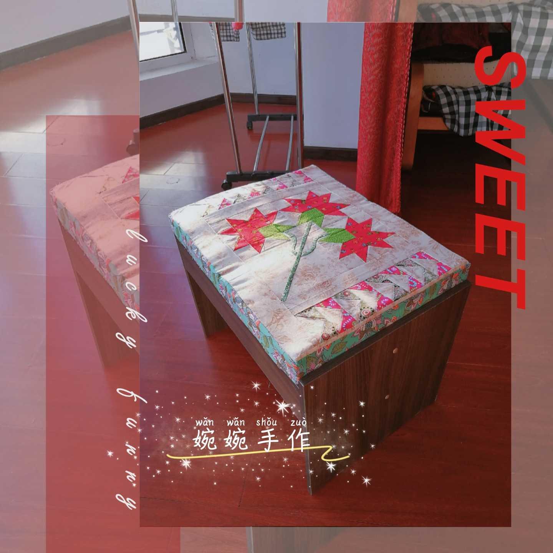 [婉婉手作]拼布坐垫&美式机缝拼布