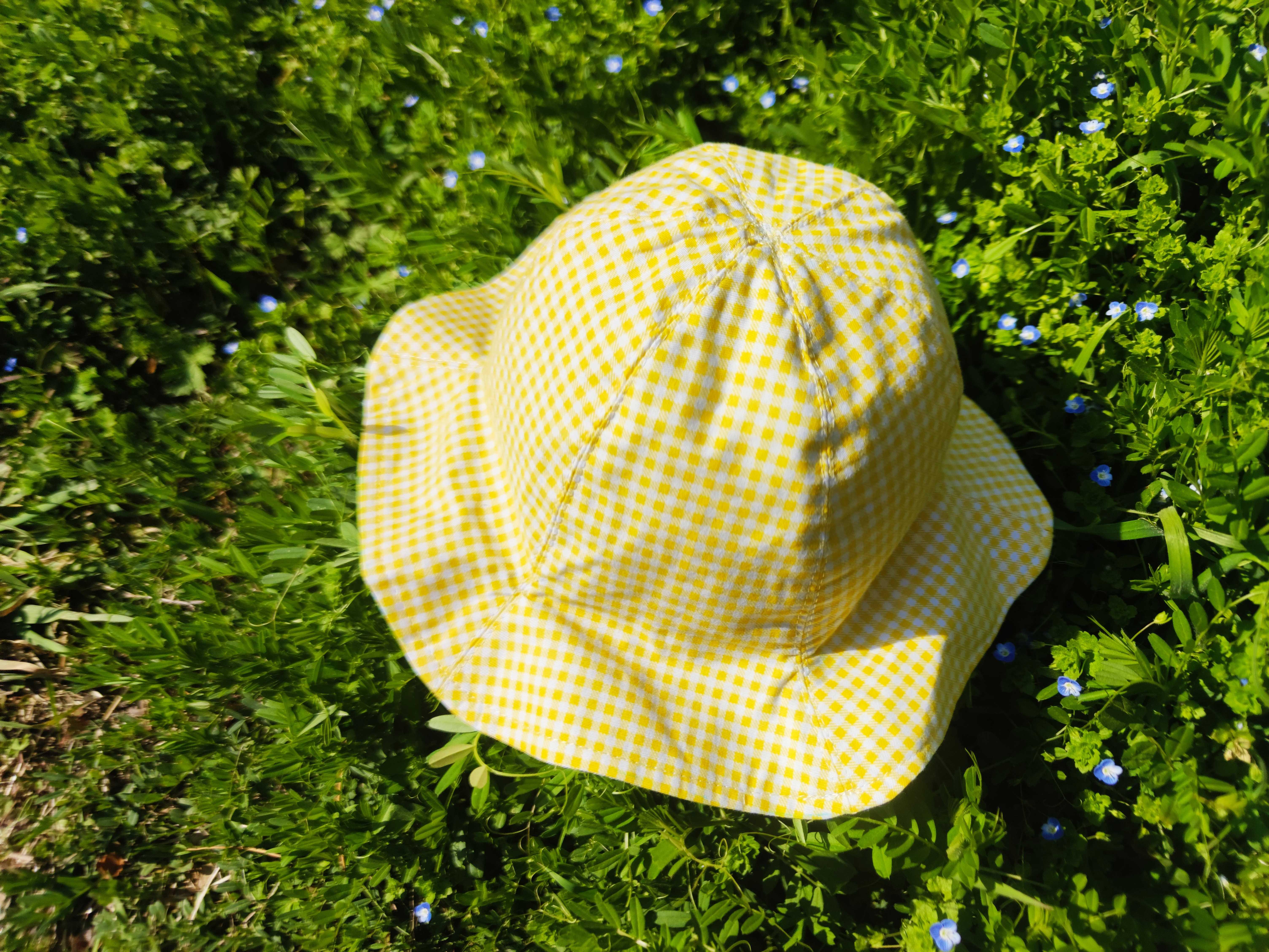自制宝宝双面格子小帽子