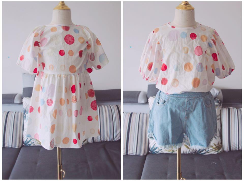 童装缝纫教程/彩虹泡泡姐妹装之上衣