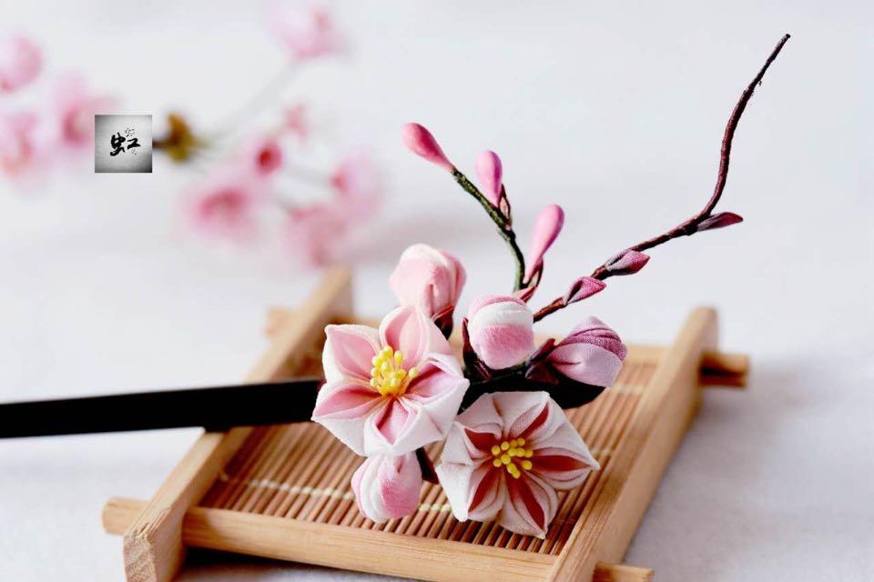 春日手作,细工桃花簪