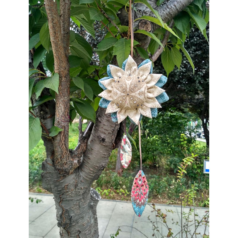 折布花吊饰香包