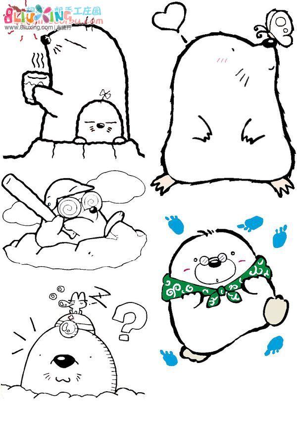 【天雅·图纸】非常可爱的卡通刺绣图案