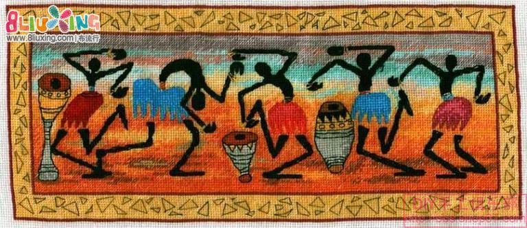 非洲舞蹈图纸