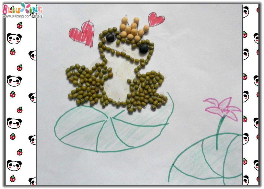 手工制作布贴画=幼儿园种子