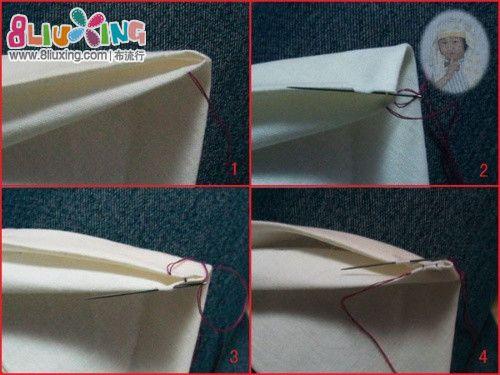 藏针法的缝合·~~有详细图解