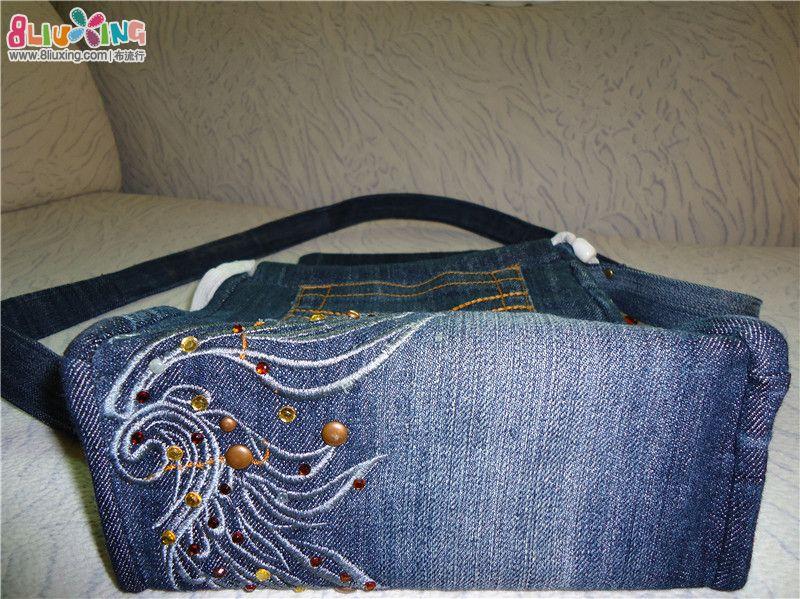 旧牛仔裤改造的小包包 手工包包 -旧牛仔裤改造的小包包