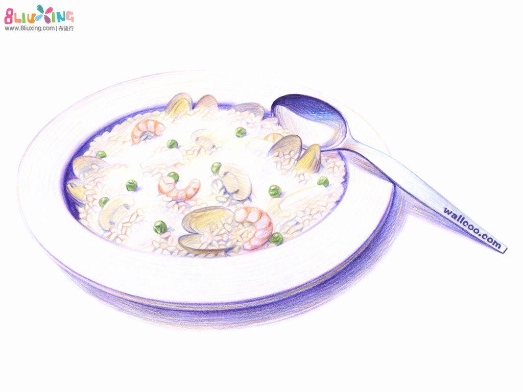 日本手绘彩铅动漫