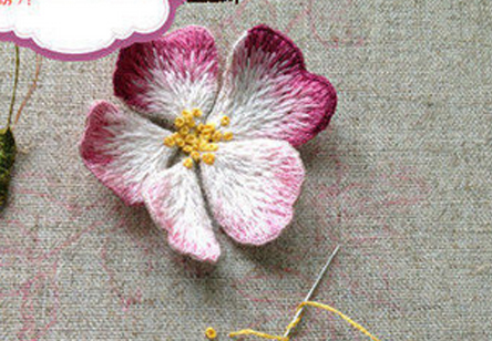 蔷薇!立体绣的教程!