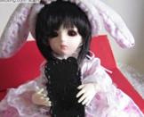 【琊の教程】6分BJD萌兔套裙-布娃娃也适用的~(图纸纸样+教程+穿着图)