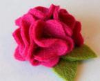 超简单教程——红玫瑰毛粘花教程