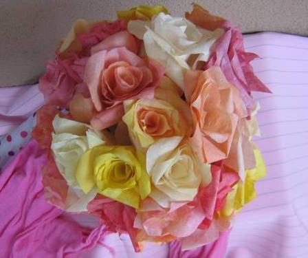 手工纸艺玫瑰花制作教程