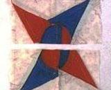 拼布基础--缝制指南针 曲线缝合的练习