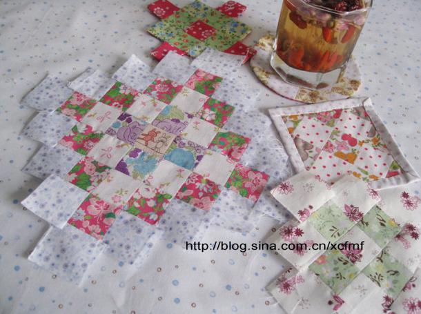 方块拼缝——杯垫