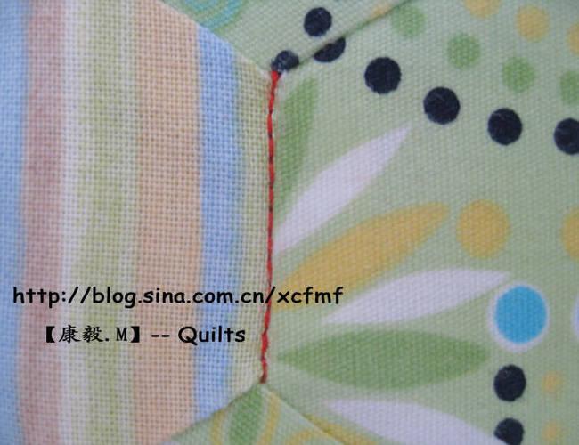 如何处理机缝拼布的线头?