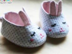 【summer】亲亲我的宝贝—软软的兔子婴儿鞋(图纸已补充)