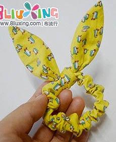 饰品小兔子头花的制作教程