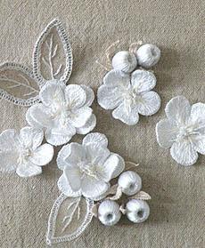 【立体绣NO:1】白色的花朵和果实