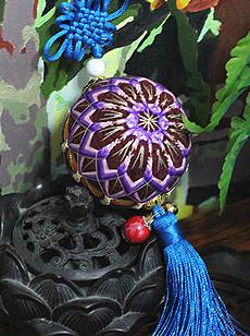 紫色的情怀--12分渐变花朵手鞠球