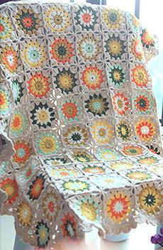 『艾米丽时光手作』 森系雏菊钩花毯。