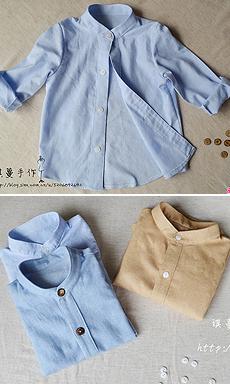 【琪蔓手工】致春天的三件小立领衬衫 附详细制作过程