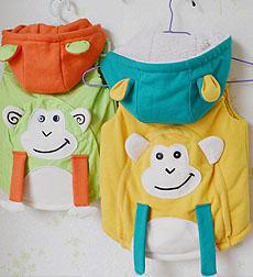 【琪蔓手作】猴年的猴子造型马甲~~姐妹装