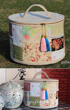 【gujiaxiu68】 早苗风格提手化妆包
