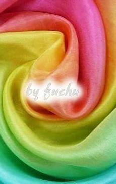 傅珠作品--绚烂的段染長絲巾