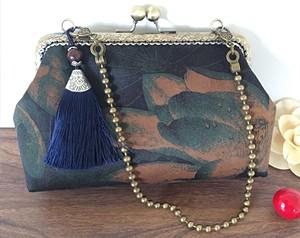 18cm方形口金香云纱包包
