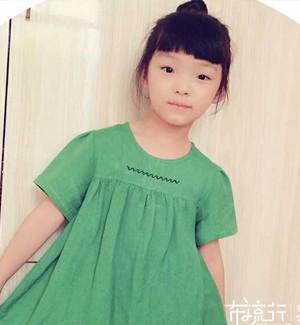 【笨笨】——儿童果绿棉麻娃娃衫